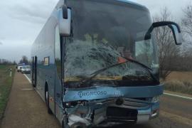 Un grupo de pensionistas mallorquines resulta ileso en un accidente mortal en Palencia
