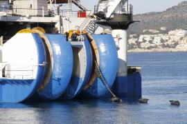 El cable eléctrico pone rumbo a Sagunto desde Santa Ponça