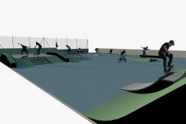 El Ajuntament de Inca construirá una pista de skate de 725 metros en el polideportivo