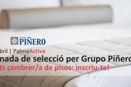 PalmaActiva y Grupo Piñero buscan a una treintena de camareras de piso