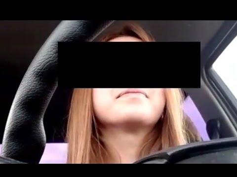 Una chica se graba conduciendo y registra su propia muerte