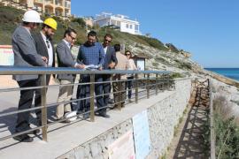 Terminan las tareas de recuperación de la zona afectada por el derrame del cable eléctrico en Cala Mesquida