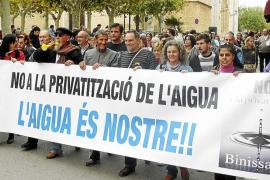 Estalla la polémica en Binissalem cuatro años después de la privatización del agua