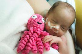 Son Llàtzer se une a la iniciativa 'Abraza tu pulpo' dedicado a los bebés de la Unidad de Neonatología