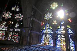 La Seu 'estrena' vitrales el Domingo de Ramos