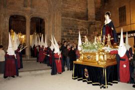Procesión de la Virgen Dolorosa en la Semana Santa 2017 de Palma