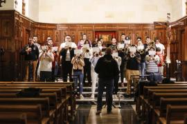 Ensayo de la agrupación musical del Santo Cristo Yacente (Fotos: Arguiñe Escandón).