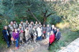 Un taller de ocupación restaura y adecua el antiguo camino de Sant Salvador