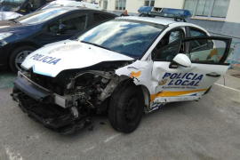 Detenido un conductor ebrio que embistió a un coche policial en Palma