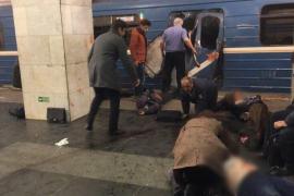 Al menos 11 muertos en una explosión en el metro de San Petersburgo
