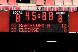 Un jugador del Eldense denuncia el amaño del partido en la derrota por 12-0 ante el Barça B