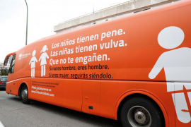 El polémico autobús de HazteOir visitará Palma el próximo 2 de junio
