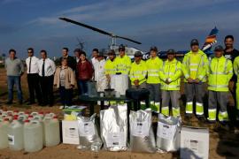 Cort combate con un helicóptero la proliferación de mosquitos en el Pla de Sant Jordi y la Platja de Palma