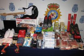 Desarticulada en Mallorca una red criminal dedicada a hurtar y revender productos de establecimientos