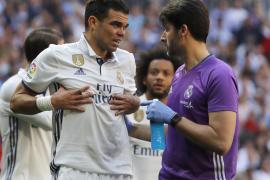 El defensa Pepe tiene dos costillas fracturadas
