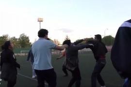 Tensión, amenazas y golpes en un partido de fútbol base en Logroño