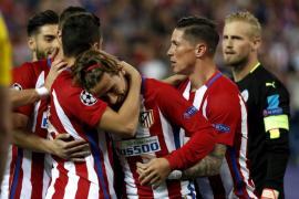 Griezmann pone al Atlético por delante en la eliminatoria ante el Leicester