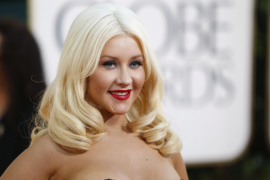 Actress and singer Christina Aguilera arrives at the 68th annual Golden Globe Awards in Beverly Hills