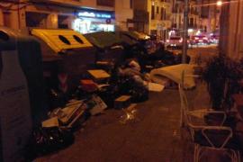 Algunas calles de Palma son basurales
