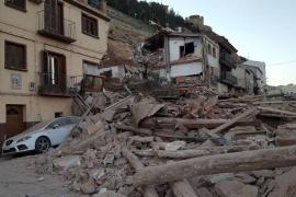 Un desprendimiento se lleva varias casas por delante en Alcañiz