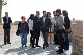 Visita de Matilde Asián a las obras del Parador de Ibiza (Fotos: Arguiñe Escandón)