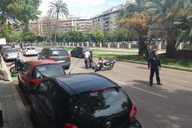 Retenciones a causa de un accidente en el centro de Palma
