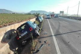Un turista se salta un stop y provoca un accidente en la carretera de s'Albufera