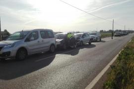 Dos conductoras heridas, en un accidente en la carretera de sa Pobla