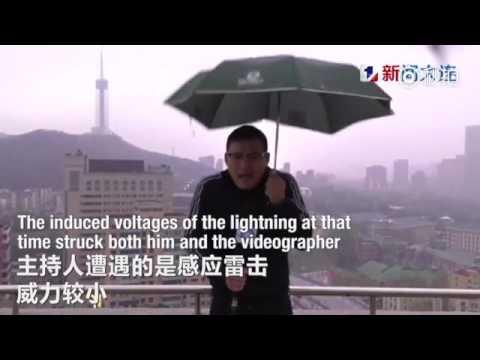 Un 'hombre del tiempo' es alcanzado por un rayo mientras daba el parte meteorológico