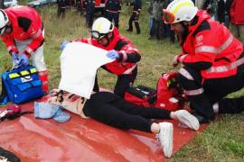 Ibanat, 061 y UME participan en un simulacro de salvamento en situación de incendio forestal