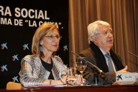 Rosa Díez asegura en Palma que la «crisis política» ha traído la «quiebra» institucional