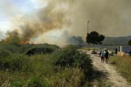 Incendio en la marina de Magaluf