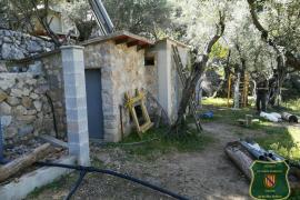 El Govern denuncia una obra ilegal en el Paraje Natural de la Serra