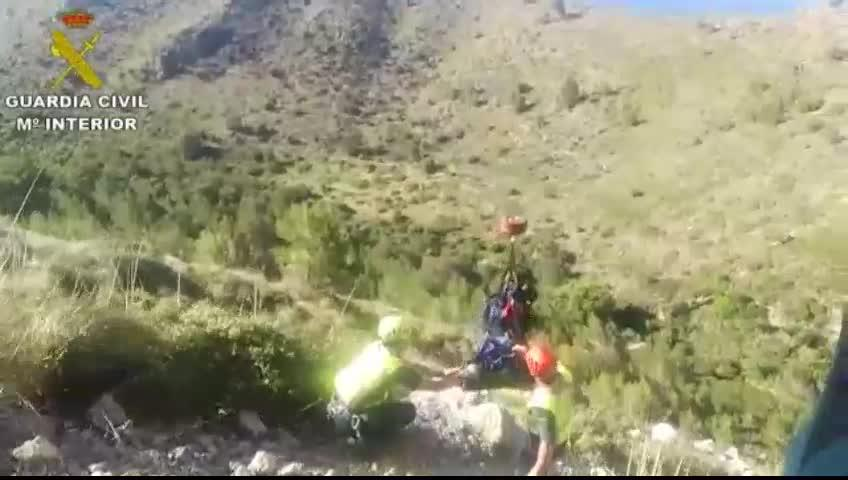 Imágenes del rescate de la excursionista fallecida en Betlem