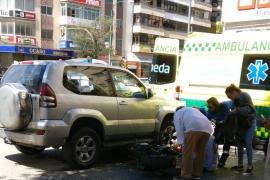 Herido leve un motorista en un accidente en las Avenidas de Palma