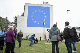 Descubren un mural de Banksy sobre el 'brexit' en el Reino Unido