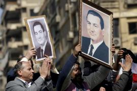 MANIFESTACIÓN DE LO SSEGUIDORES DEL PRESIDENTE EGIPCIO HOSNI MUBARAK