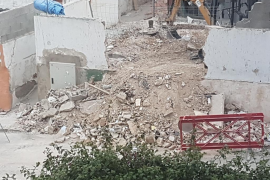 Escombros en la calle