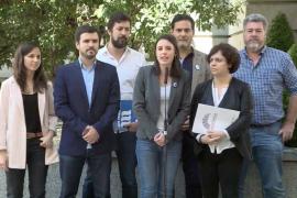 Unidos Podemos presenta su moción de censura como «alternativa contundente a la corrupción del PP»