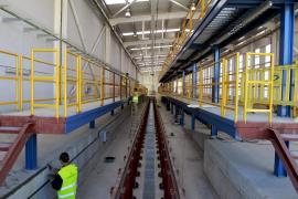 Recta final de las obras de ampliación de los talleres de tren de Son Rullan