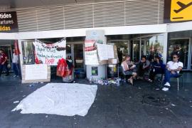 Estado del aeropuerto de Ibiza al quinto día de huelga de limpieza