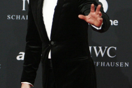 Singer Ronan Keating arrives at the red carpet for the Laureus World Sports Awards at Emirates Palace in Abu Dhabi