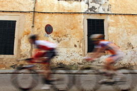 Cyclists compete during the second stage of the Challenge Mallorca cycling race in Mallorca