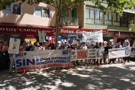 Protesta de agentes de la Policía Nacional por la supresión de un complemento de 120 euros mensuales