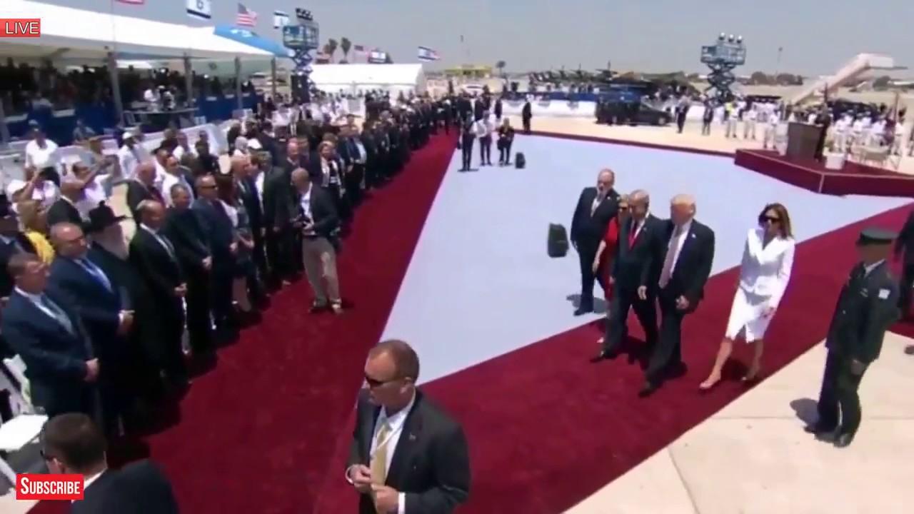 Gesto de rechazo de Melania a Donald Trump en Israel