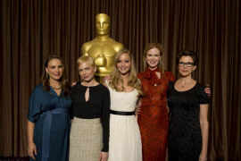 Best actress nominees pose at Oscar luncheon