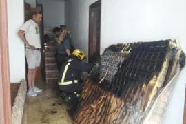 Una explosión afecta a una habitación habilitada en un garaje en Ibiza