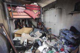 Una explosión en Sant Antoni afecta a una habitación habilitada en un garaje