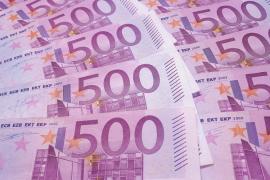 Los billetes de 500 euros, en mínimos