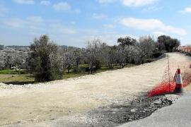 La reforma de la carretera de Inca a Caimari dificulta el acceso de los vecinos a sus fincas